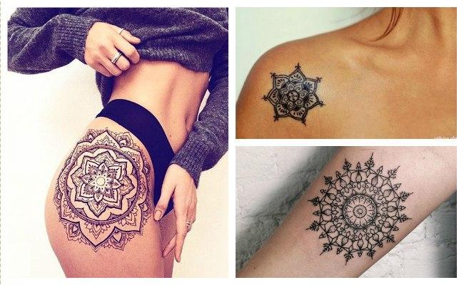 Tatuajes de mandalas para chicas