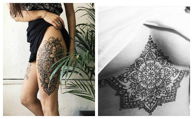 Tatuajes de mandalas para mujeres