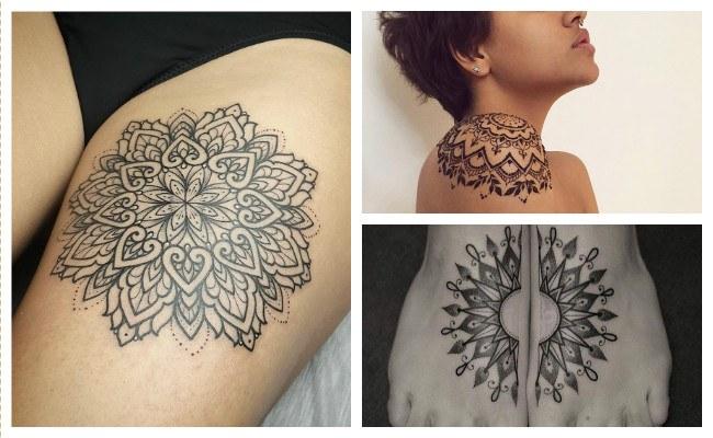 Tatuajes de mandalas en los pies