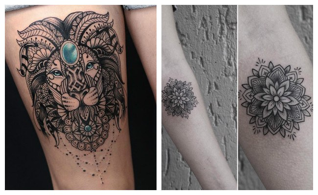 Fotos de tatuajes de mandalas tibetanos