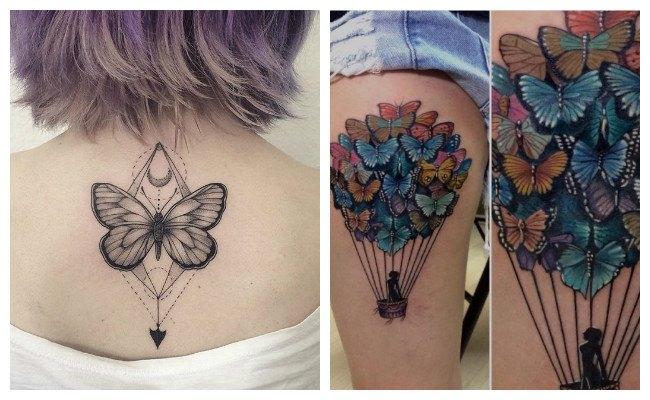 Significado de los tatuajes de mariposas azules