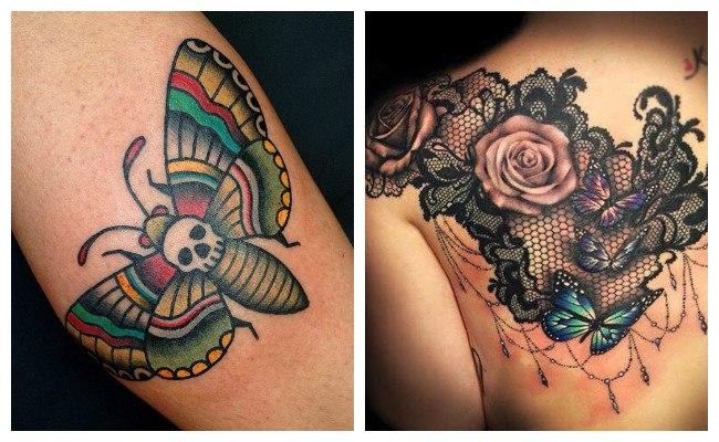 Tatuajes de mariposas azules