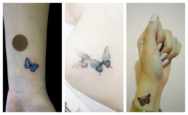 Tatuajes de mariposas revoloteando