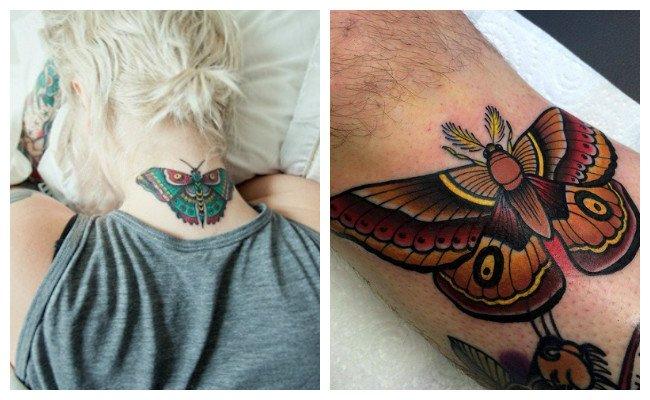 Tatuajes de mariposas tradicionales Old school
