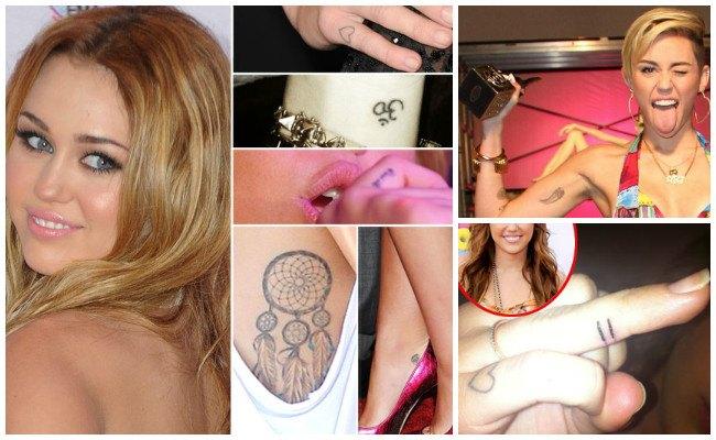 Tatuajes de miley cyrus en el pecho