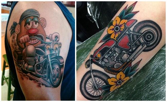 Tatuajes de motos honda