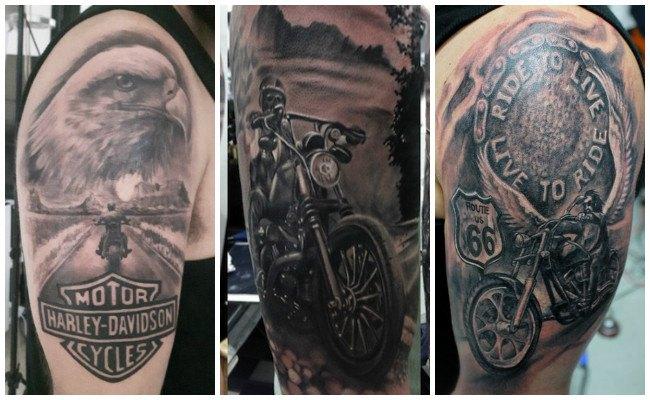 Tatuajes de motos para mujeres