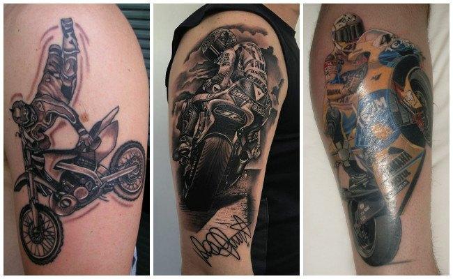 Tatuajes de motos en pista
