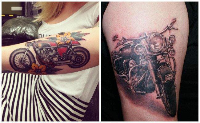 Tatuajes de motos tribales