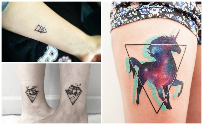 Tatuajes de muchos triángulos