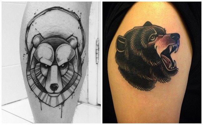 Tatuajes de oso pardo