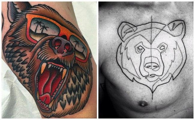 Tatuajes de oso rugiendo