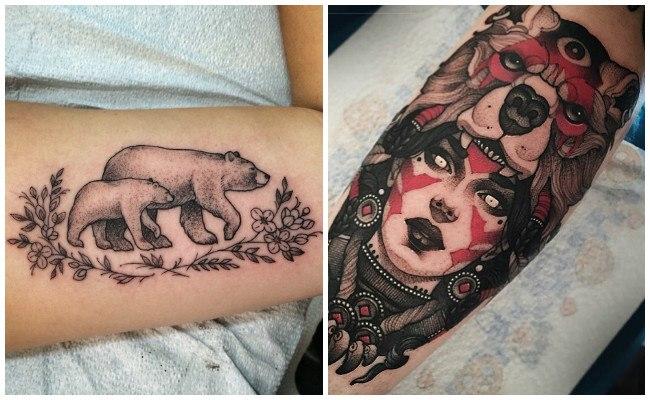Tatuajes de osos en el antebrazo