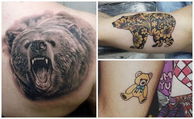 Tatuajes de osos con sus crías