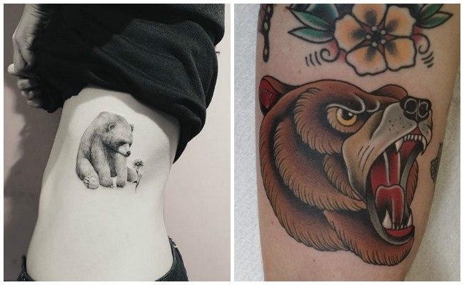 Tatuajes de osos japoneses