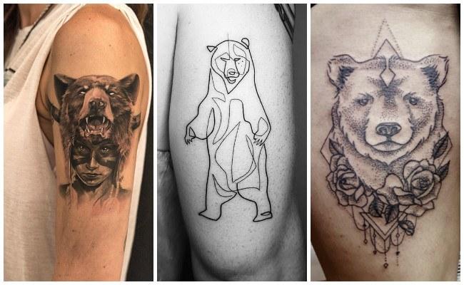 Tatuajes de osos para hombres