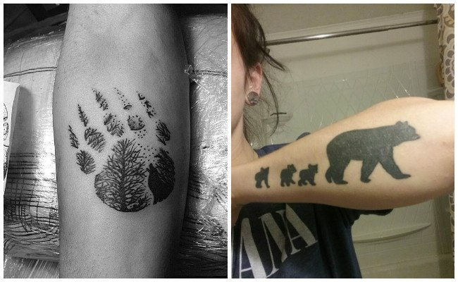 Tatuajes de osos pequeños