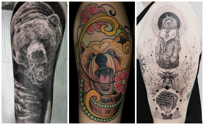 Tatuajes de osos salvajes