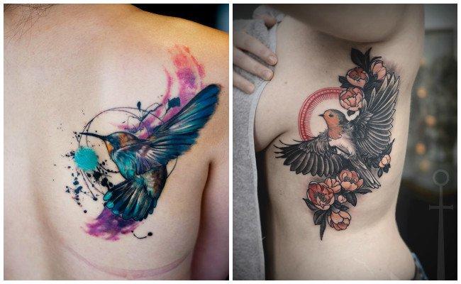 Tatuajes de pájaros pequeños