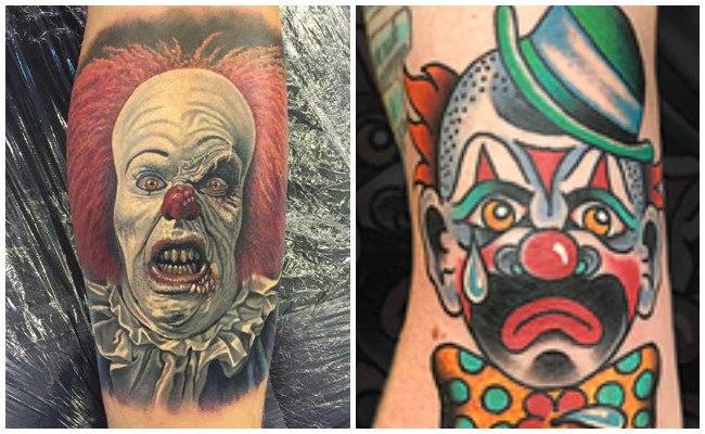 Tatuajes de payaso guason