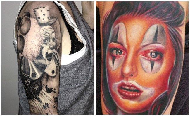 Tatuajes de payasos asesinos