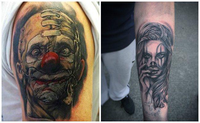 Tatuajes de payasos y bufones