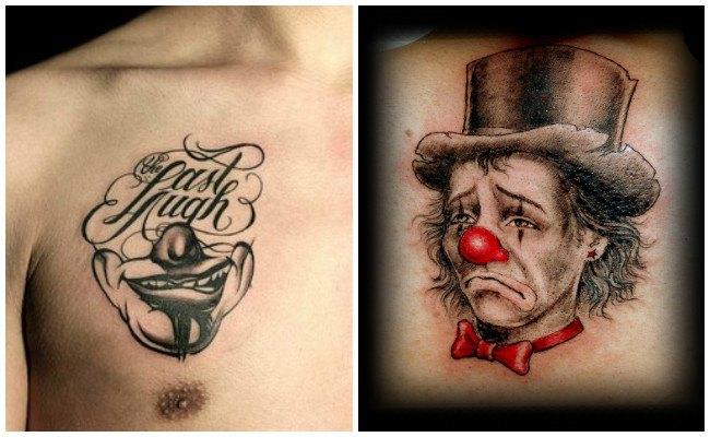 Tatuajes de payasos diabólicos