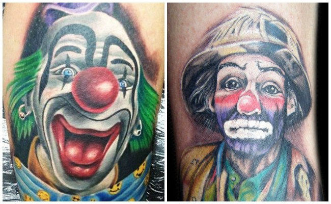 Tatuajes de payasos joker
