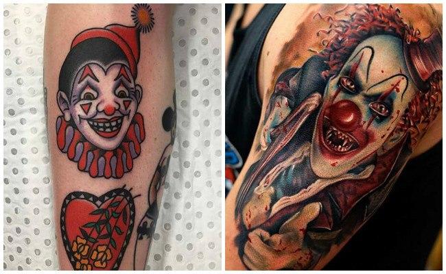 Tatuajes de payasos llorando