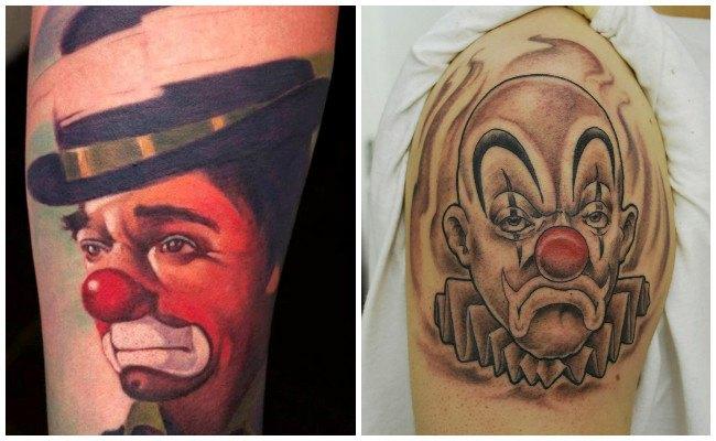 Tatuajes de payasos malditos
