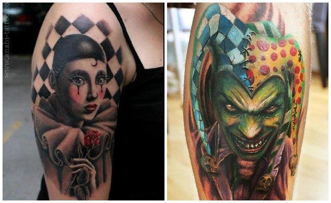 Tatuajes de payasos malos