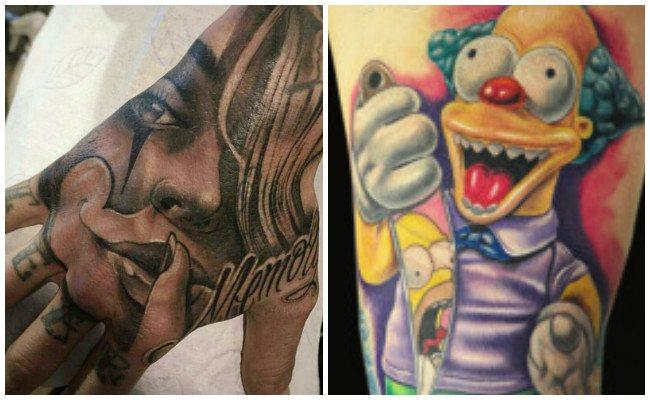Tatuajes de payasos para hombres