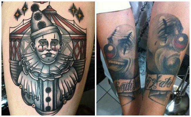 Tatuajes de payasos para mujeres