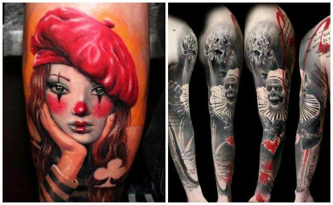 Tatuajes de payasos tristes y su significado