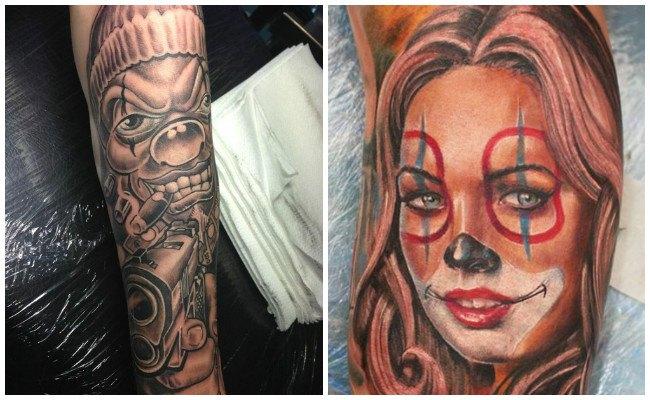 Tatuajes de payasos tristes y alegres