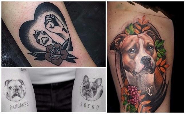 Tatuajes de perros caniches