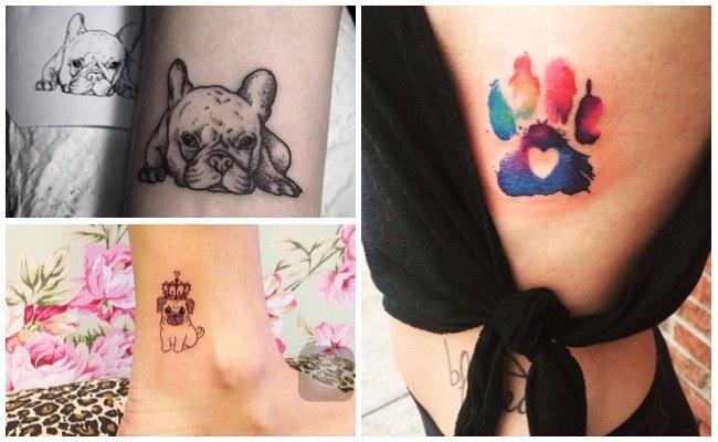 Tatuajes de perros husky