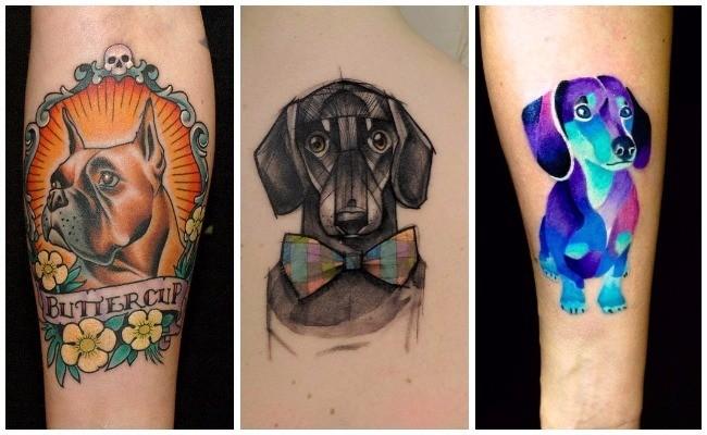 Tatuajes de perros ovejeros
