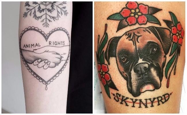 Tatuajes de perros rottweiler