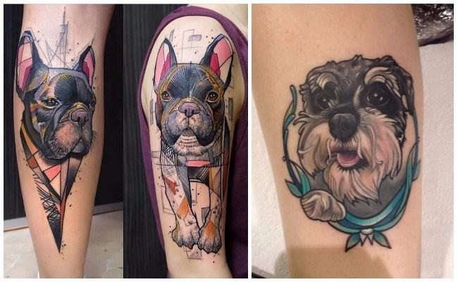 Tatuajes de perros salchichas
