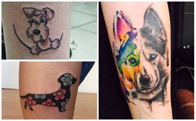 Tatuajes de perros siberianos