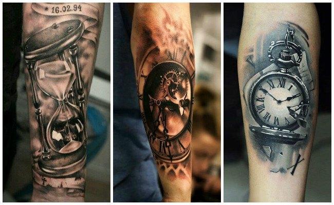 Tatuajes de relojes antiguos