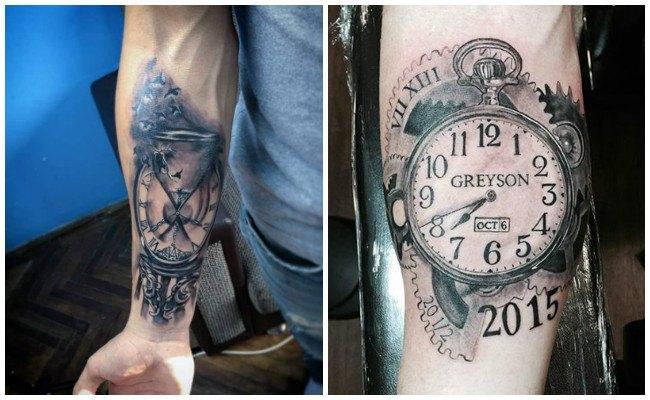 Tatuajes de relojes para el brazo