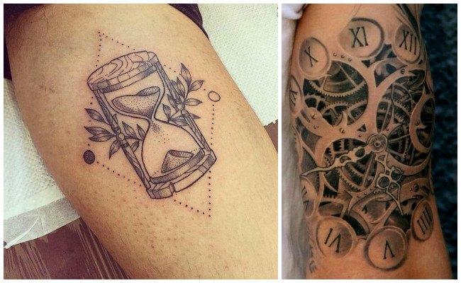 Tatuajes de relojes romanos