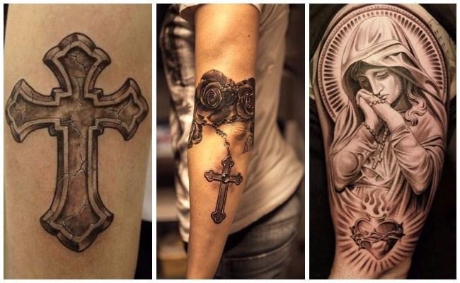 Tatuajes de rosarios en el pecho