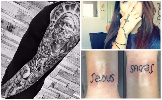 Tatuajes de rosarios en la muñeca
