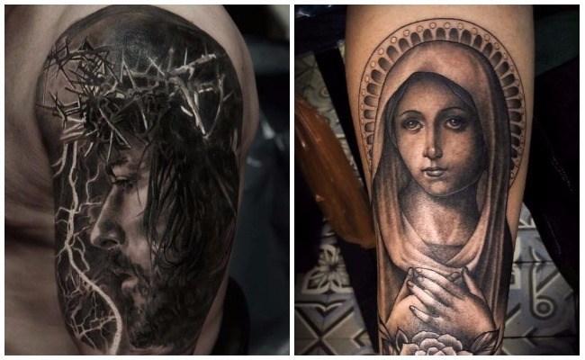 Tatuajes de rosarios para hombres