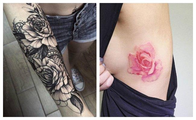 Tatuajes de rosas con espinas