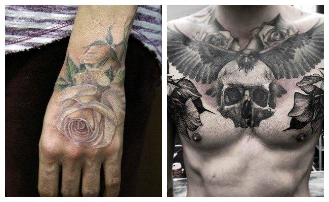 Tatuajes de rosas para hombres