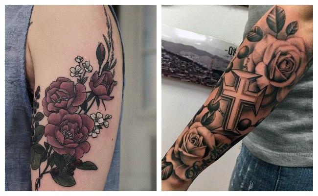 Tatuajes de rosas para hombres en el brazo